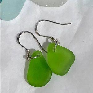 Jewelry - SEAGLASS EARRINGS Seafoam Sterling Silver